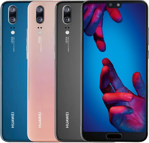 "Huawei P20 Dual Sim 128 GB Schwarz, Blau, Pink <span class=""break-state""> <span class=""display-state-slash"">|</span> Wie Neu, Premiumware</span>"