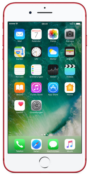 iPhone 7 Plus 128GB rot 5,5 Zoll Display iOS LTE Smartphone ohne Simlock 12MPX