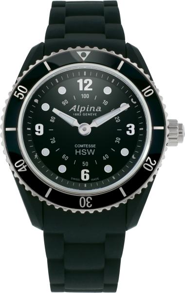Alpina Comtesse Horological Smartwatch Schwarz/Stahl