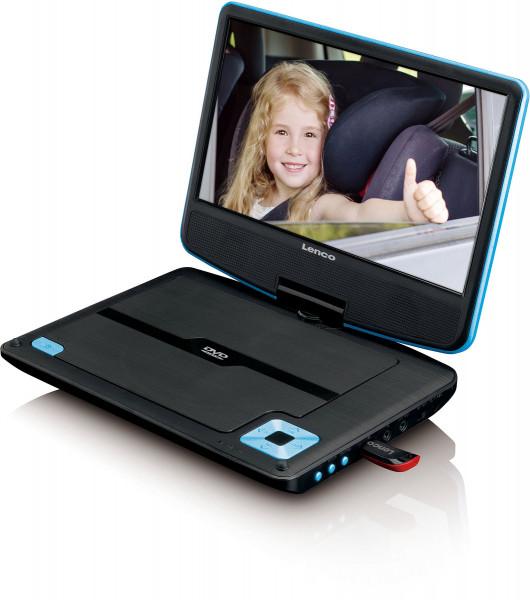 "Lenco DVP-910 9"" DVD-Player USB & KfZ-Halterung Blau"