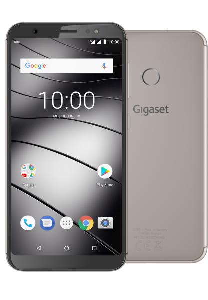 "Gigaset GS185 DualSim metal cognac 16GB LTE Android Smartphone 5,5"" Display 13MP"