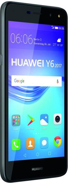 "Huawei Y6 2017 DualSim grau 16GB LTE Android Smartphone 5"" Display 13 Megapixel"