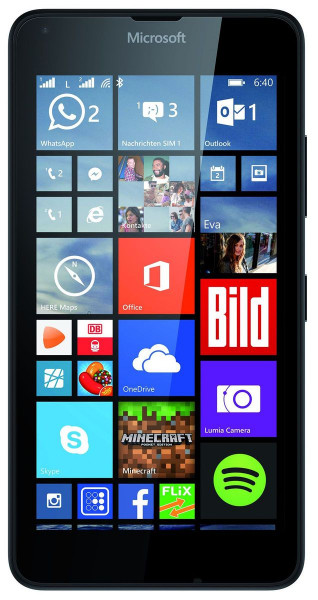 Microsoft Lumia 640 Dual SIM schwarz LTE Windows Smartphone ohne Simlock 8 MPX