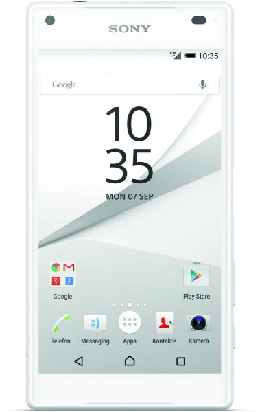 """Sony Xperia Z5 compact weiß 32GB LTE Android 4,6"""" Smartphone ohne Simlock 23 MPX"""