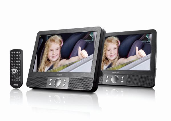 "Lenco MES-405 9"" DVD-Player Set USB- & SD-Karten-Anschluss"