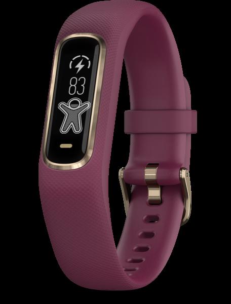 Garmin Vivosmart 4 dunkelrot/rose S/M Smartwatch Fitness Tracker Herzfrequenz