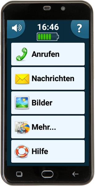 "amplicomms PowerTel M9500 Smartphone ohne Simlock Dual Sim LTE 8GB 5"" 8MPX grau"