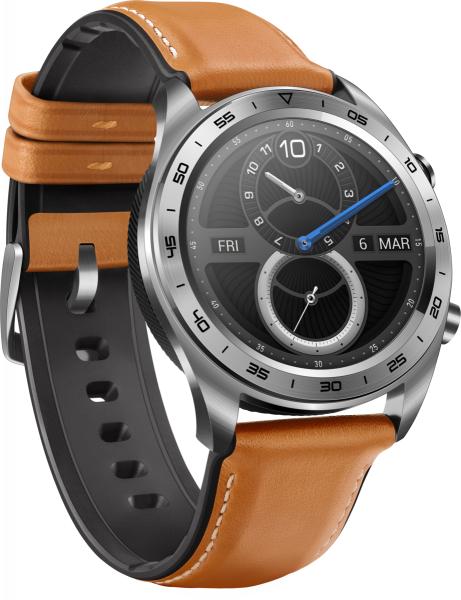 Honor Watch - Moonlight Silver/ Brown Leather & Silicone Strap Gebraucht - Akzeptabel