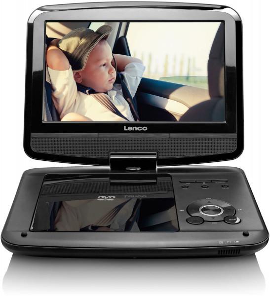 "Lenco DVP-9413 9"" DVD/DVB-T2-Player KfZ-Halter Schwarz"