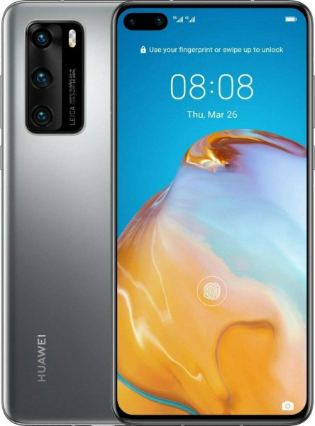 """Huawei P40 Pro DualSim silber frost 256GB LTE 5G Android 6,58"""" OLED 50 MPX 4K"""