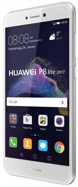 Huawei P8 Lite 2017 Android 7.0 Smartphone, 5.2 Zoll , 16 GB, weiß. 12 MPX