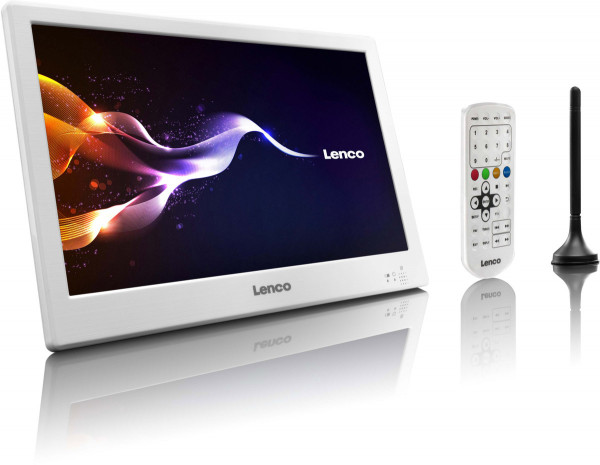 """Lenco TFT-1028 10"""" HD LED-TV DVB-T2 & USB Weiß"""