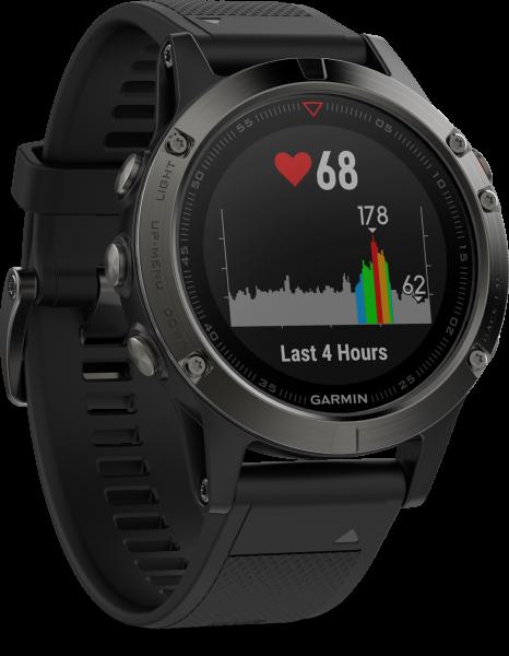 Garmin Fenix 5 grau schwarz Smartwatch Fitness Tracker Schlaf Tracker Bluetooth