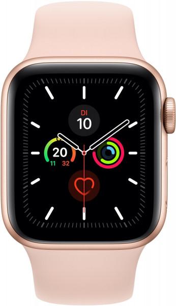 Apple Watch 5 gold Alu 44mm Sport sandrosa 4G iOS Smartwatch GPS Fitness Tracker