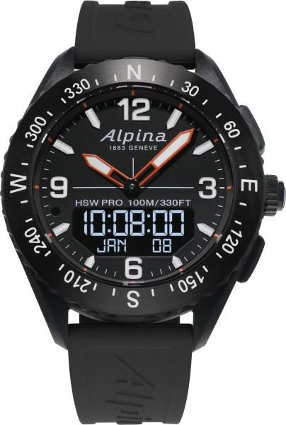 Alpina AlpinerX Smartwatch Schwarz/Schwarz
