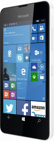 "Microsoft Lumia 550 weiß LTE Windows 10 Smartphone ohne Simlock 4,7"" Display 5MP"