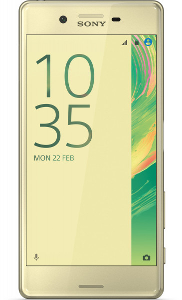 "Sony Xperia X lime gold 32GB LTE Android Smartphone 5"" Display o. Simlock 23 MPX"