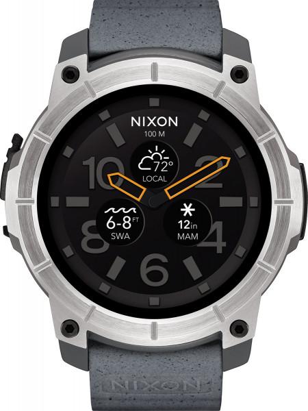 Nixon Smart Watch Mission grau Analoguhr Digitaluhr wasserfest Sport- Fitnessuhr
