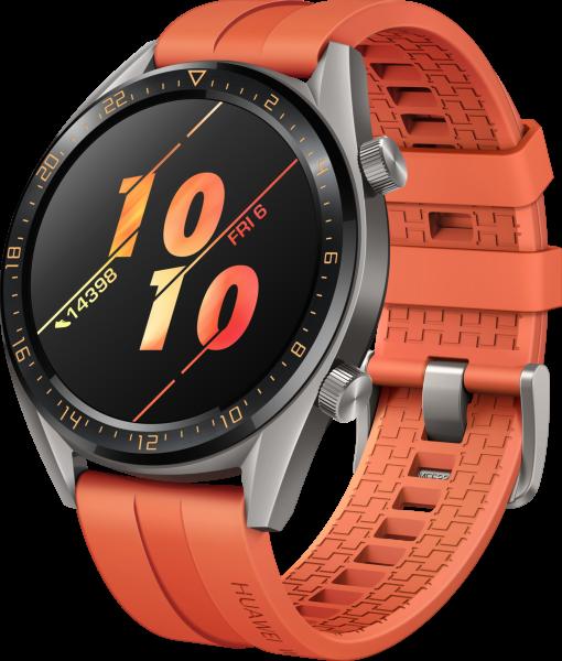 Huawei Watch GT Active, Orange Android Smartwatch Sport Fitnessuhr GPS