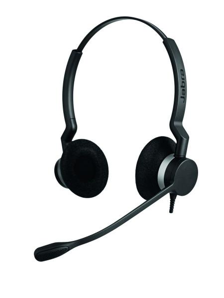 JABRA BIZ 2300 binaural schwarz Stereo Kopfbügel Headset kabelgebunden
