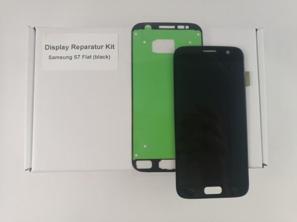 Qualitäts Display für Samsung S7 schwarz Reparaturkit LCD Touchscreen Einheit
