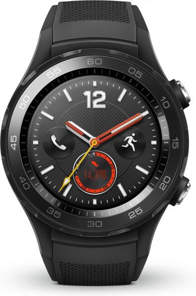 Huawei Watch 2 LTE Carbon Schwarz wasserdicht, staubdicht AMOLED