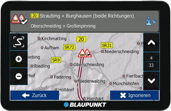 Blaupunkt Travelpilot 73² CE LMU 7 Zoll Display Zentraleuropa TMC