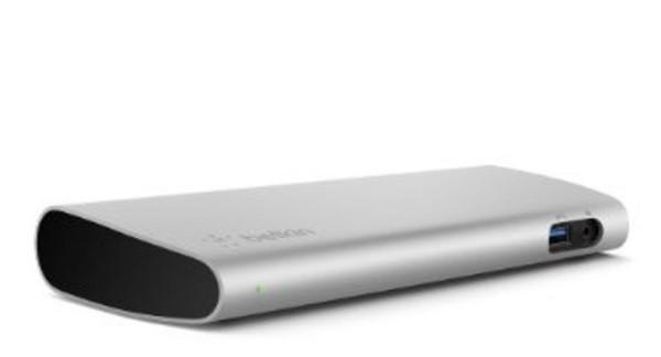 Belkin Thunderbolt 3 Express Dock HD + 0,5m Kabel Silber Laptop-Dockingstation