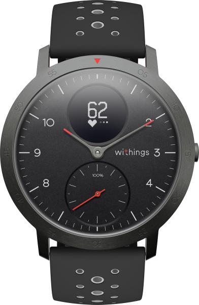 Withings STEEL HR Sport, black Bluetooth Smart Notifications Aktivitätsanalyse