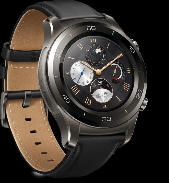 Huawei Watch 2 Classic Grau Android Wear Smartwatch Lederarmband WLAN Bluetooth