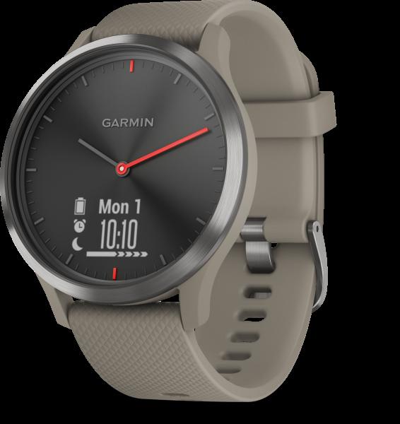 Garmin vivomove HR Sport Schwarz/Sandstein Smartwatch Fitness Tracker Pulsmesser