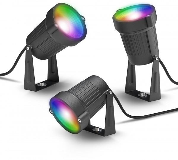 innr Smart Outdoor OSL 130 C Spot Light Colour 3 Pack - EU
