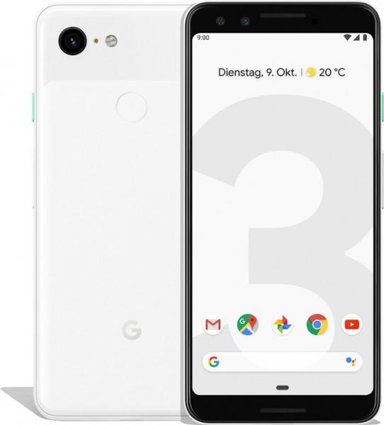 "Google Pixel 3 weiß 64GB LTE Android Google Smartphone 5,5"" Display 12,2MPX eSim"