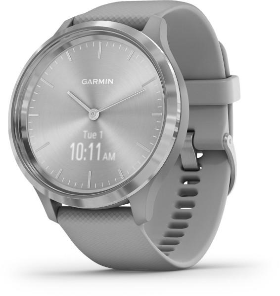 Garmin vivomove 3 Grau Silber 4GB iOS Android Smartwatch GPS Fitness Tracker