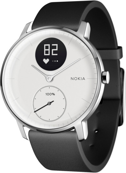 Nokia STEEL HR ROSE GOLD, 36mm Weiß Grau leather strap Fitness-Tracker Pulsuhr