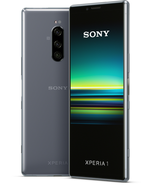 """Sony Xperia 1 DualSim grau 128GB LTE Android Smartphone 6,5"""" OLED Display 12 MPX"""