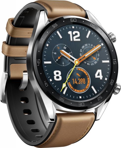 Huawei Watch GT braun Android & iOS Smartwatch Bluetooth Pulsuhr Schrittzähler