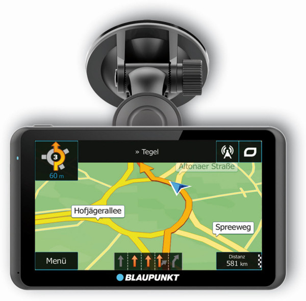 "Blaupunkt TravelPilot 63 EU LMU 8GB PKW Navigation Kartenmarterial Europa 6,2"""