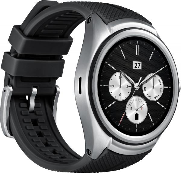 LG Watch Urbane 2nd Edition schwarz Edelstahl Android Wear Smartwatch Pulsmesser