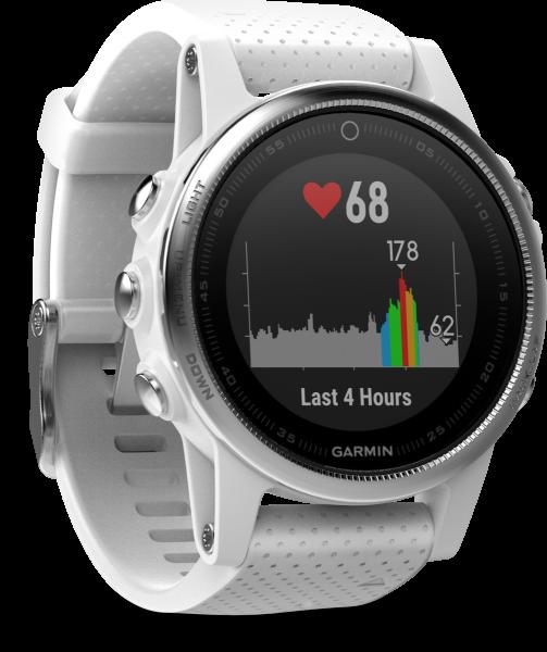Garmin Fenix 5S silber weiß Smartwatch Fitness Tracker Schlaf Tracker Bluetooth
