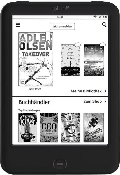 Tolino Shine 2 HD eBook-Reader Touchscreen schwarz 4GB