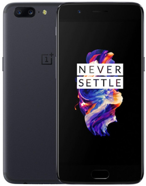 "OnePlus 5 schwarz 128GB LTE Android Smartphone GPS Bluetooth 5,5"" Amoled 20 MPX"