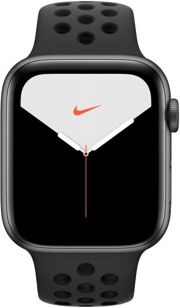 Apple Watch 5 Nike spacegrau Alu 44mm schwarz GPS iOS Smartwatch Fitness Tracker