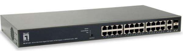 LevelOne 26-Port-Web Smart-Gigabit-PoE-Switch 24 PoE-Ausgänge