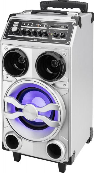 Dual DSBX 100 Mobiles Soundsystem mit Bluetooth Silber