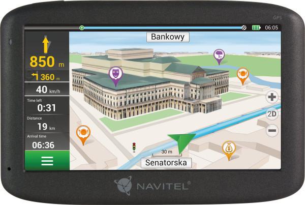 "Navitel E500 Navigationsgerät PKW 5"" Touchscreen Kartenmaterial Europa"