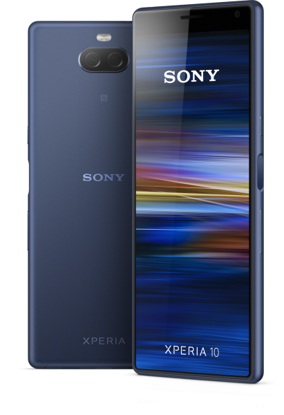 """Sony Xperia 10 DualSim navy blau 64GB LTE Android Smartphone 6"""" Display 13 MPX"""
