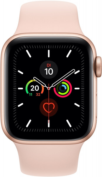 Apple Watch 5 gold Alu 40mm sport sandrosa 4G