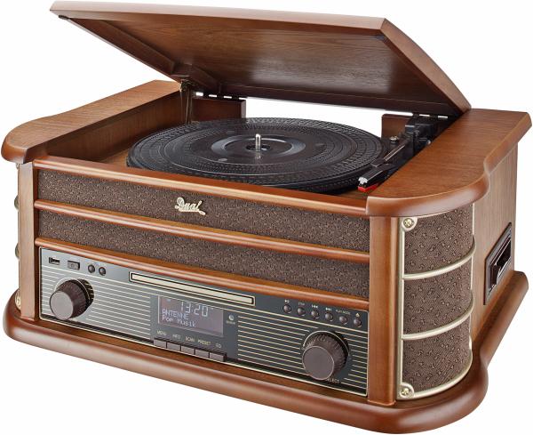 Dual NR 50 Nostalgie Komplettanlage DAB+ CD Kassette Holz