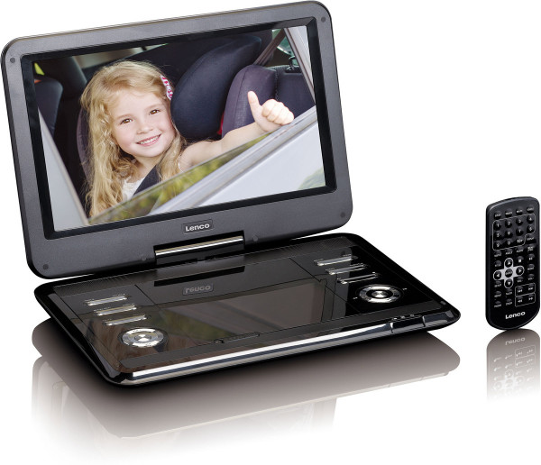 "Lenco DVP-1210 12"" HD DVD-Player KfZ Adapter Schwarz"